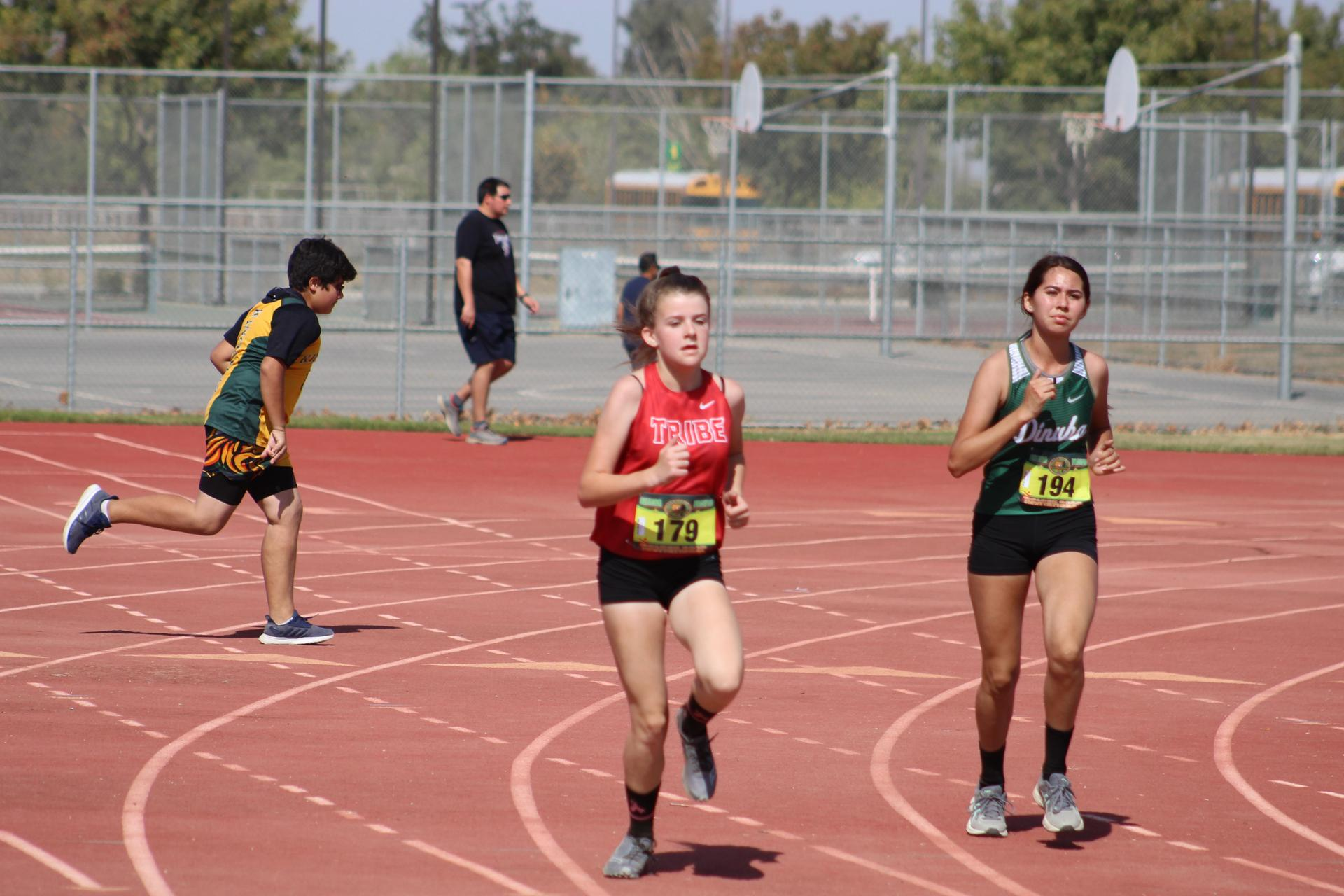 Girls Cross Country Running at Sierra Pacific