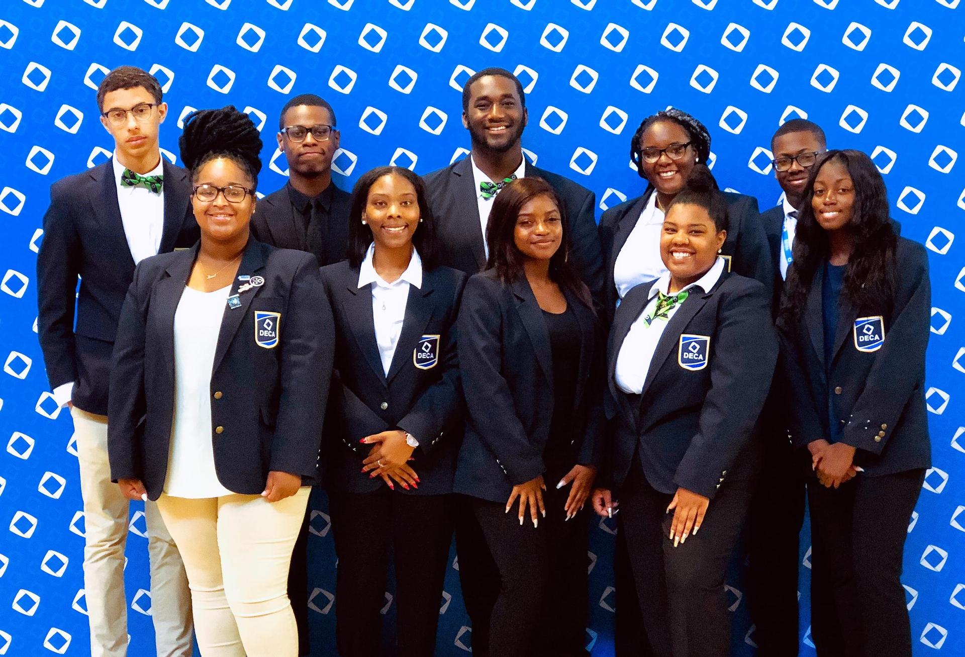 A photo of Baker High DECA students' experience at international conference in Orlando,