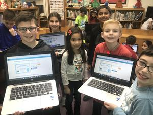 """Third graders at Jefferson School participated in """"Hour of Code"""" activities during Computer Science Education Week with the help of code.org volunteer and Westfield resident Charlie Schafer ."""