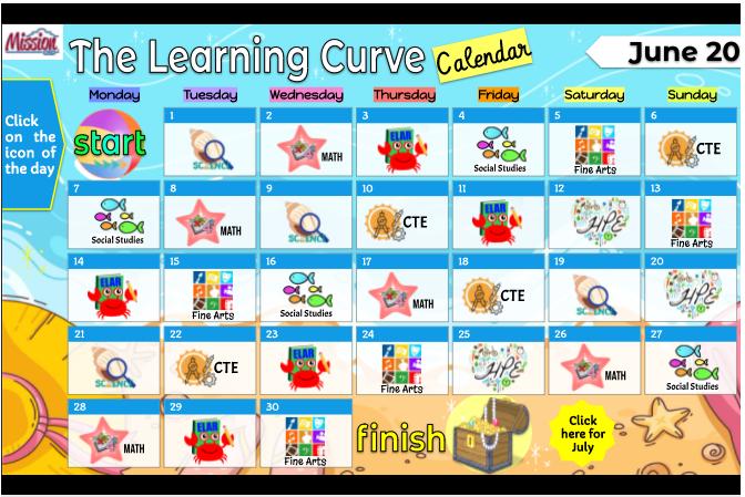 Learning curve calendar