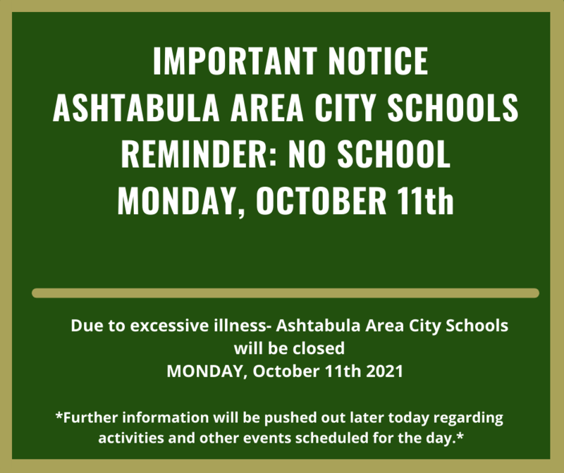 IMPORTANT UPDATE:  NO SCHOOL- MONDAY, OCTOBER 11th, 2021 Featured Photo