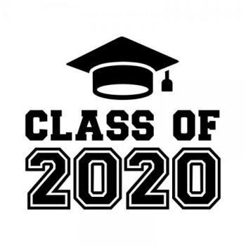 Class of 2020 with a motarboard cap above