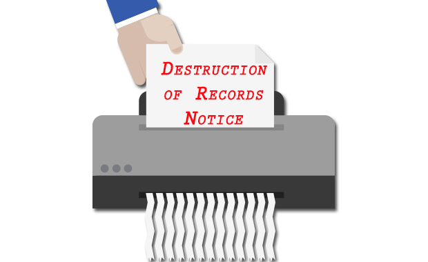 Notice of Destruction of Special Education Records Featured Photo