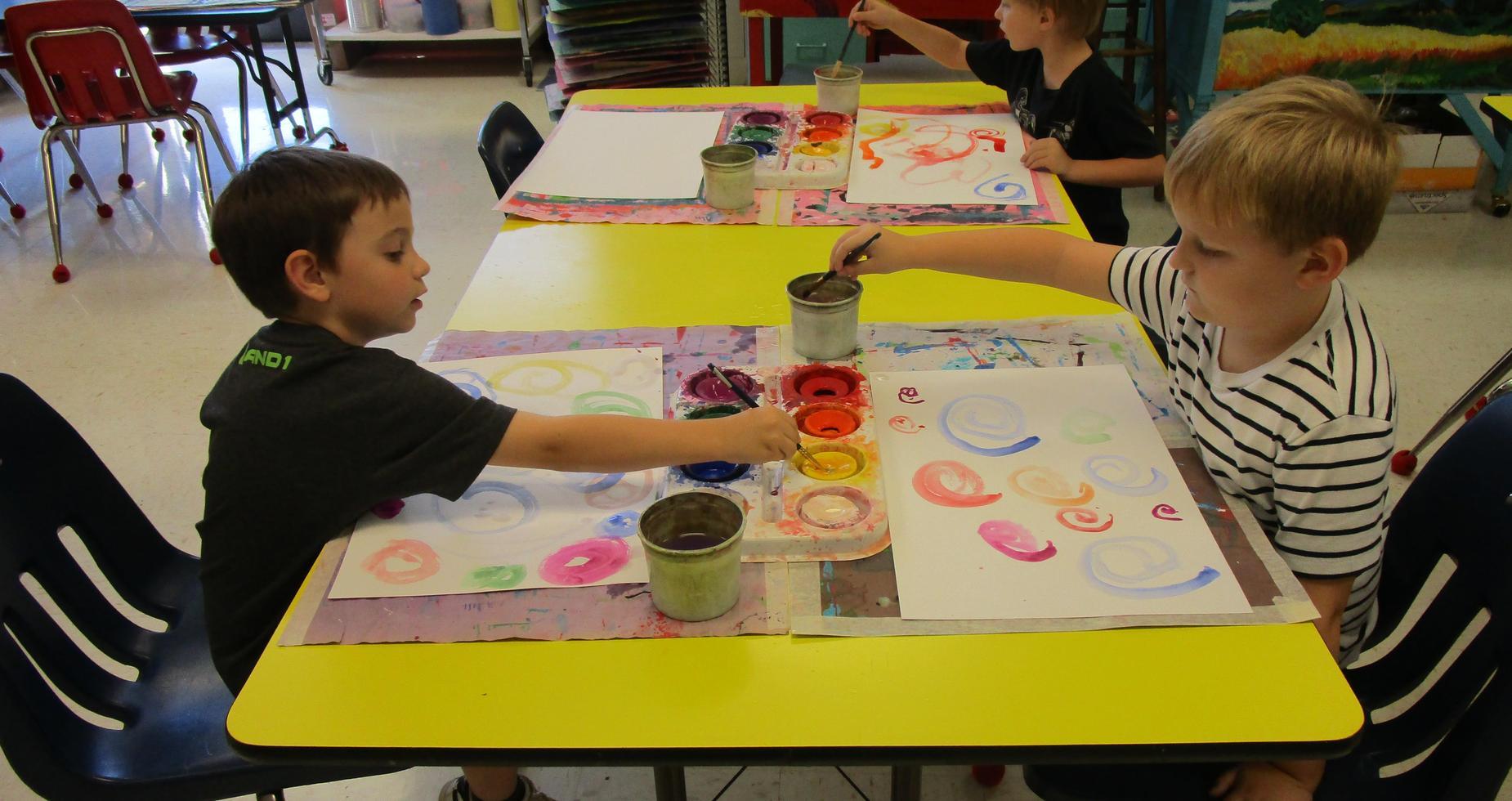 kindergarten painting in art