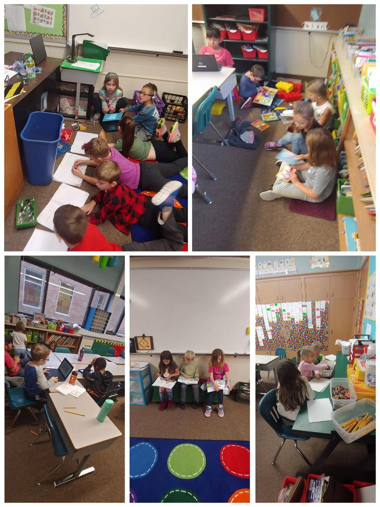 Students reading time.