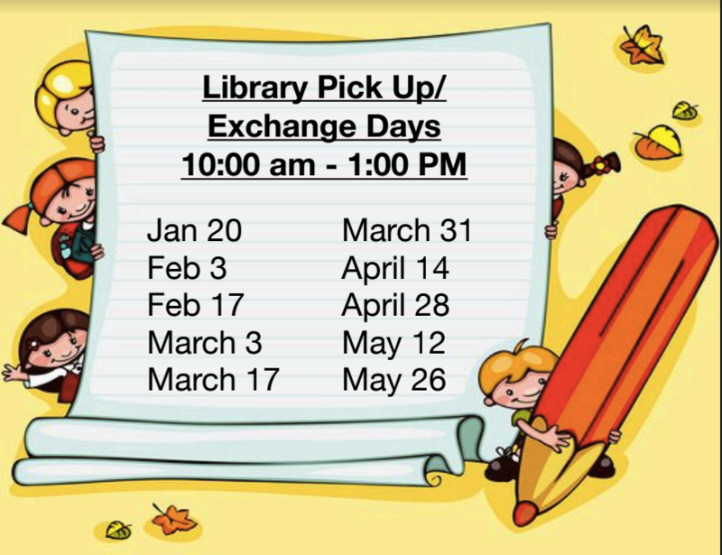 Library Pick Up/Exchange Days Thumbnail Image
