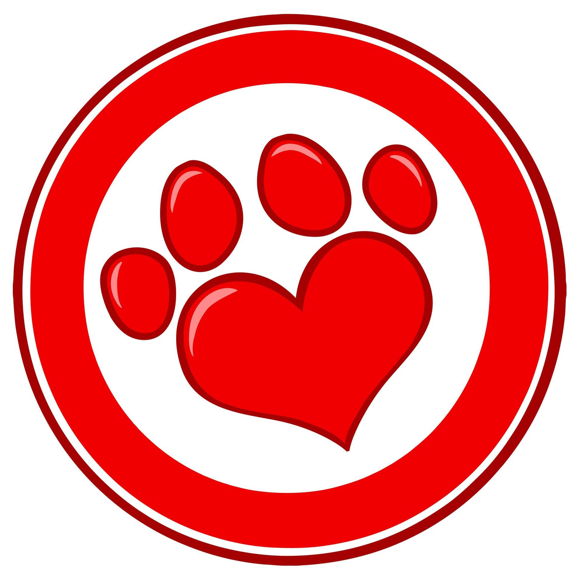 graphic of heart shaped paw