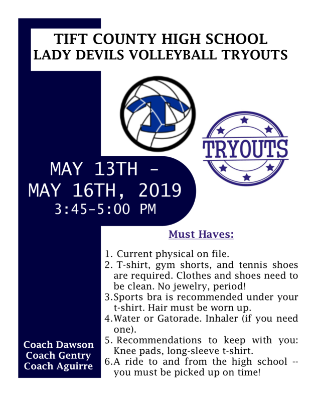8th Graders - Lady Devil Tryouts Featured Photo