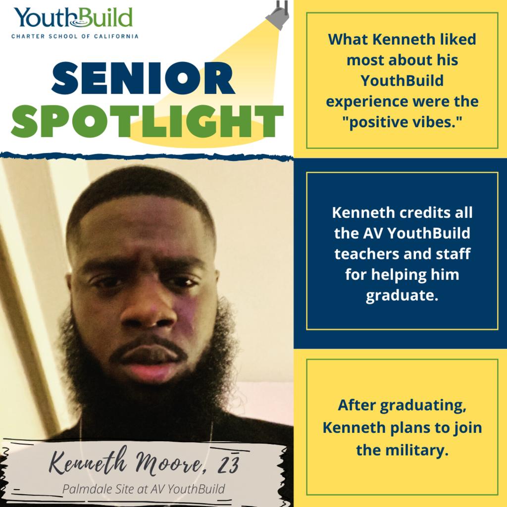 Senior Spotlight for graduate Kenneth Moore