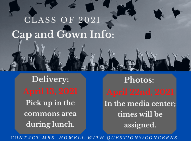Cap and Gown Delivery and Picture Info