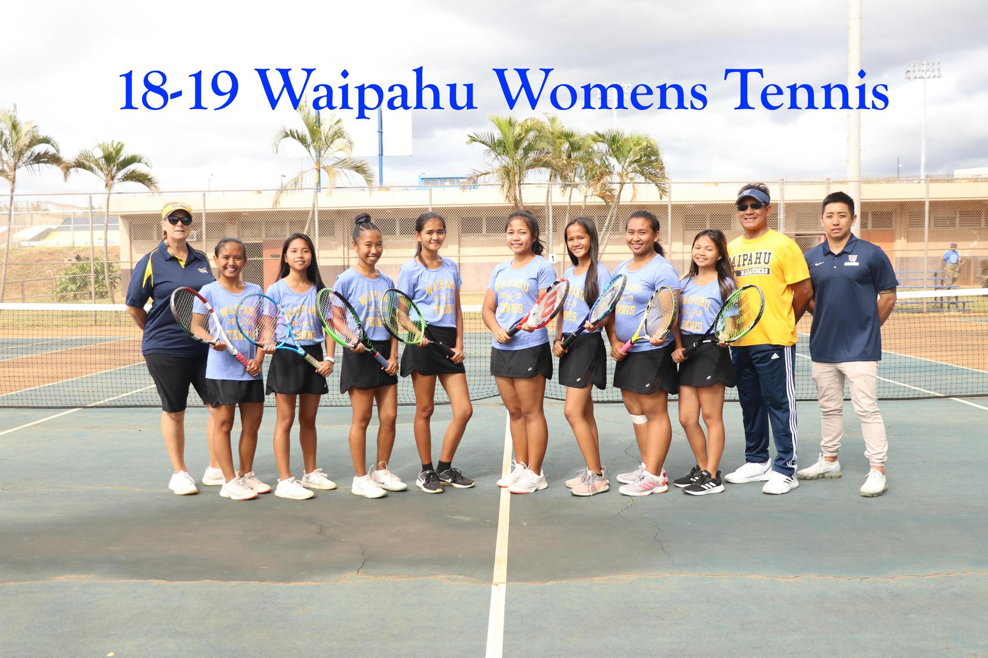 18-19 Tennis Girls Varsity