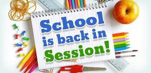 School in session on Tuesday, September 10, 2019