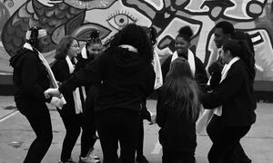 LHS Students Group Hug