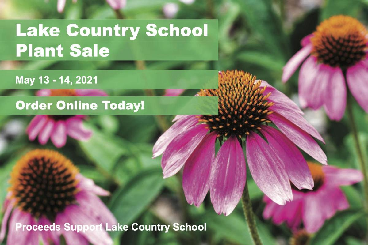 Plant Sale postcard May 13 & 14, all proceeds benefit LCS land school