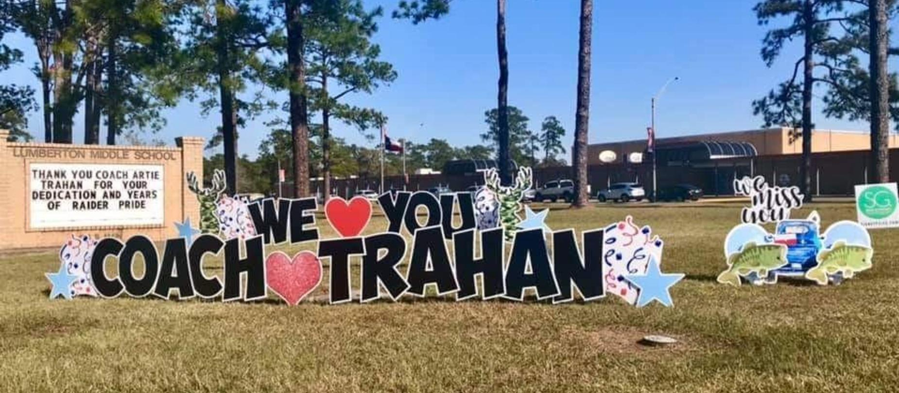We will miss you Coach Trahan!