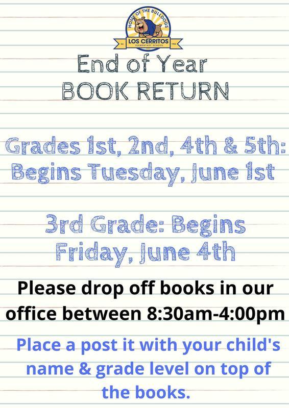 End of Year Book Return/Fin de Año Regreso de Libros Featured Photo