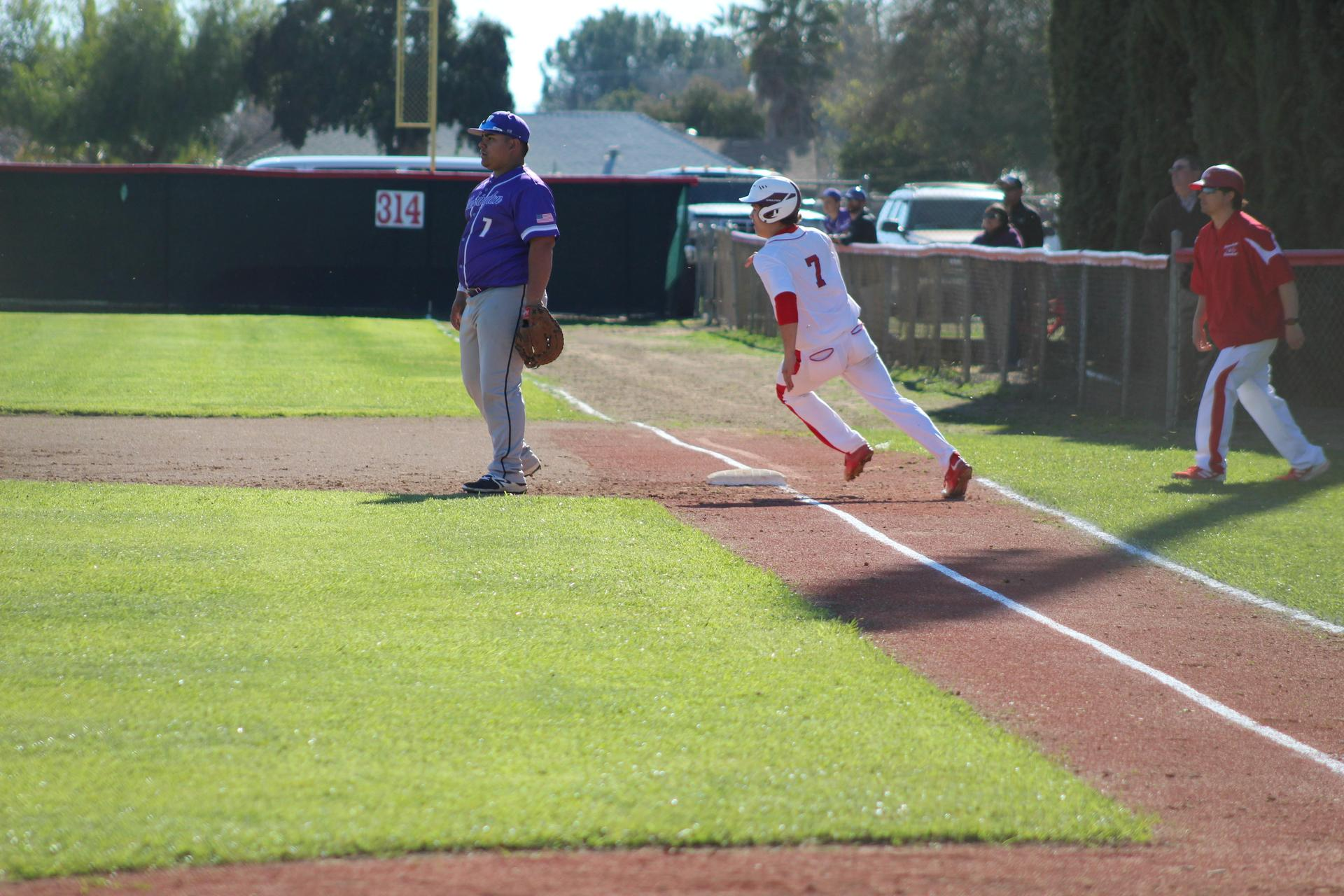 Baseball players in action against Washington Union