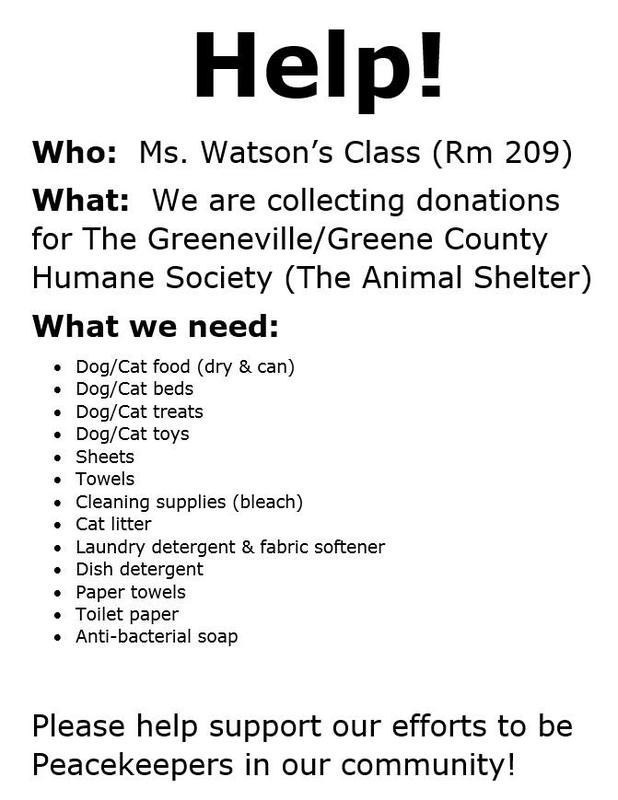 Mrs. Watson's class needs your help! Featured Photo