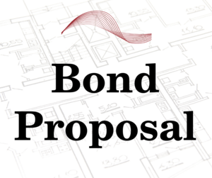 bond proposal with image of architectural drawing in background