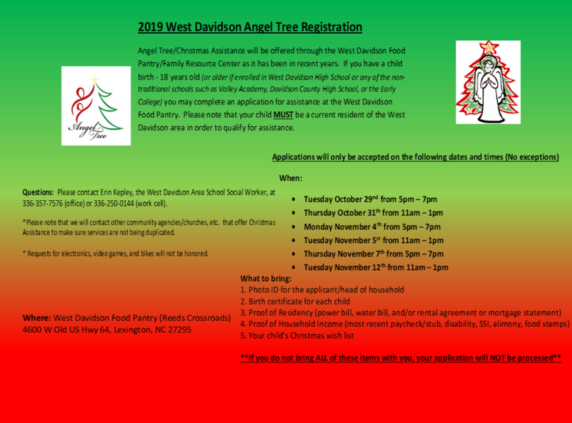Angel Tree Registration