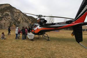 Fire helicopter and Escalante students.