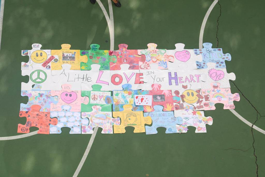 soaring stars against bullying puzzle piece added