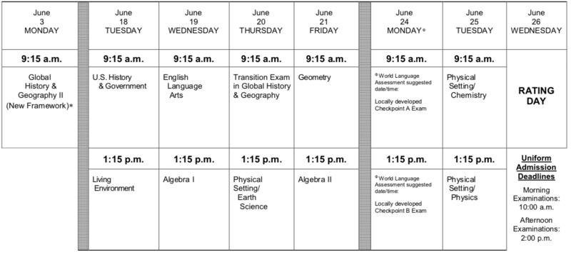 June 2019 Regents Schedule Featured Photo