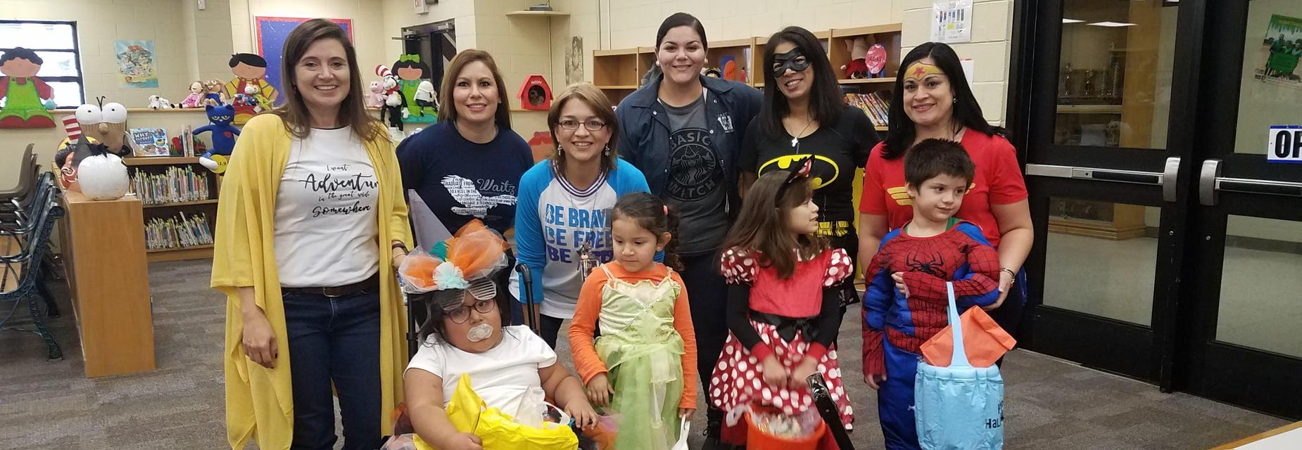 Trick or treating at the LRC