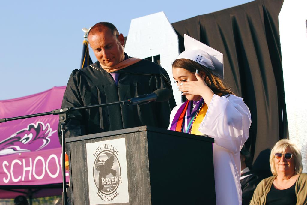 Class of 2019 valedictorian Hailey Rivera gives address