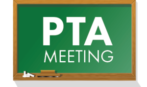 PTA Meeting on a chalkboard