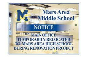 Mars Area Middle School Main Office Relocated