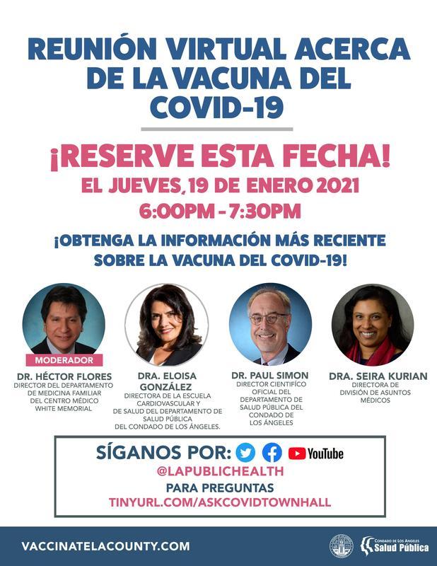 Reunión Virtual Acerca de la vacuna del covid-19 Featured Photo