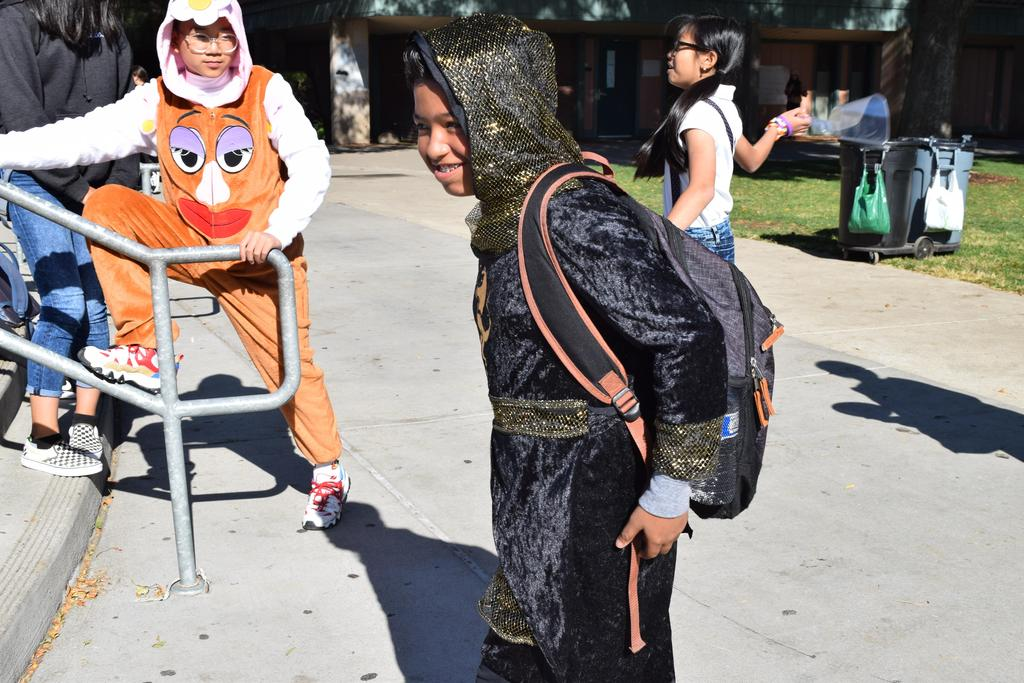 CCA student dressed as a ninja.