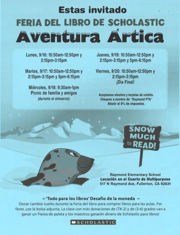 Book Fair Flyer in Spanish - Feria de Libros