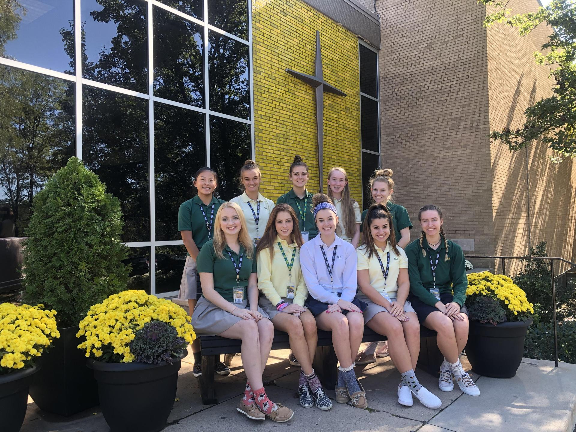 Girls in Student Council pose for International Day of the Girl