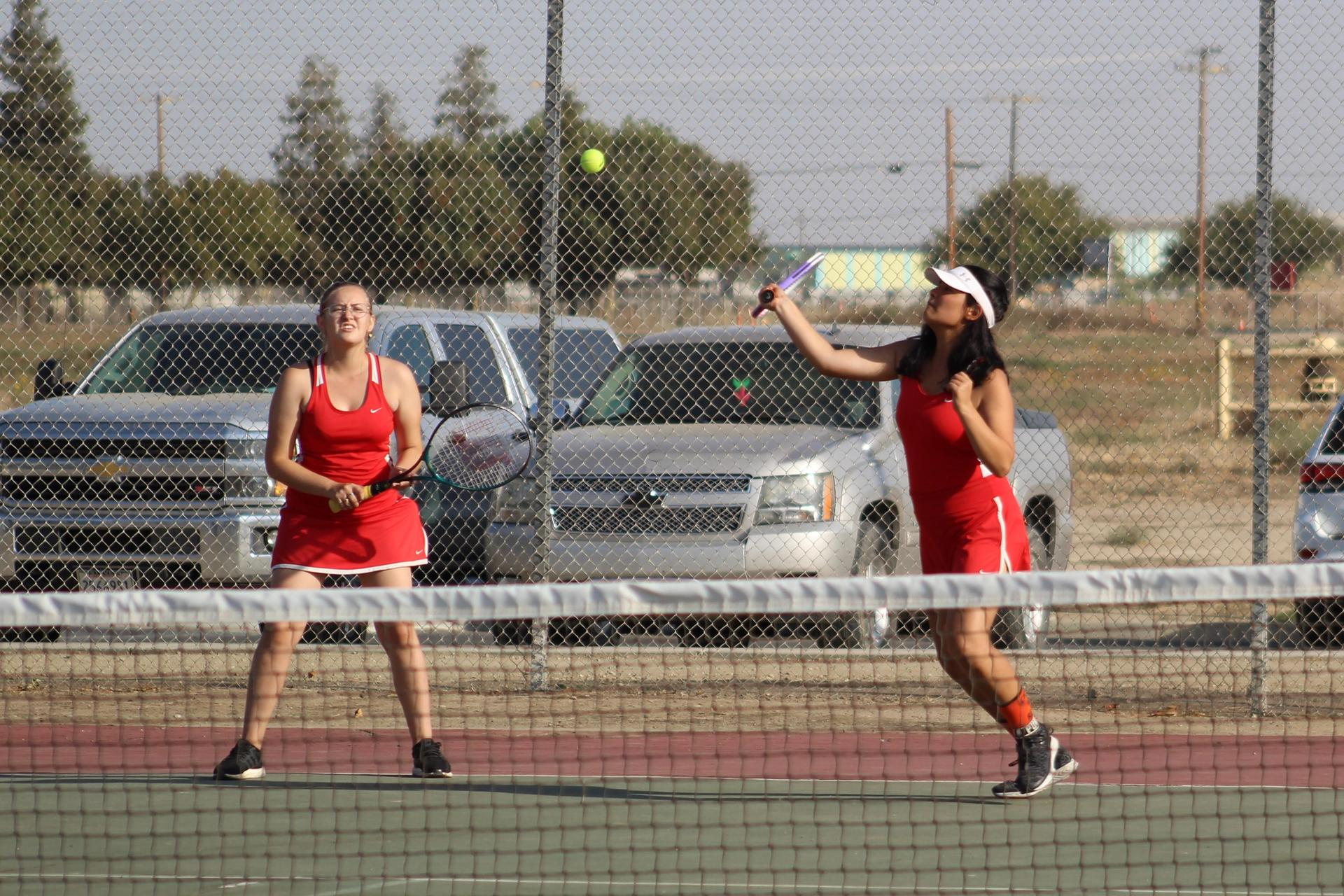 Chowchilla Girls playing tennis