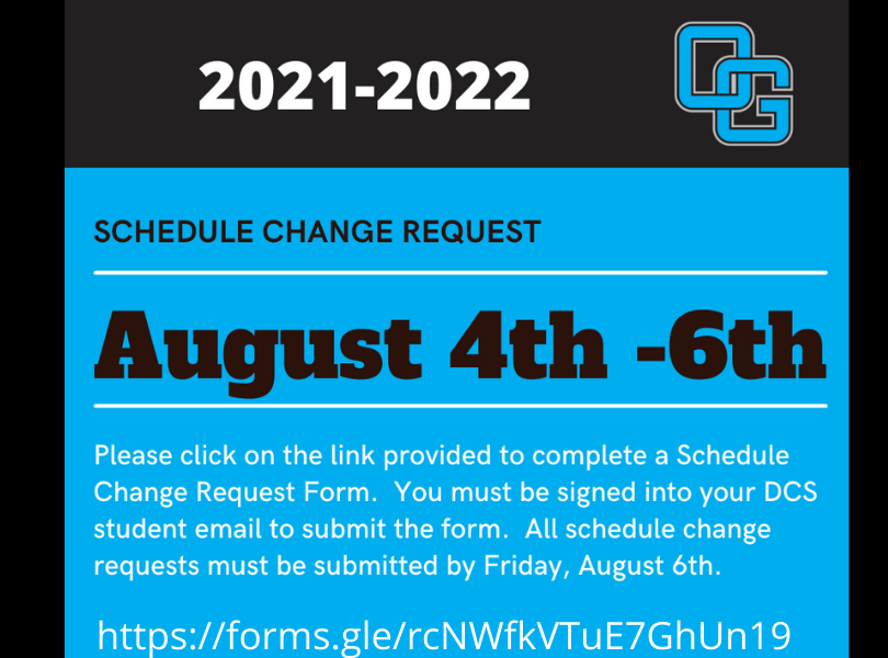 Schedule Changes Click the Banner to Complete form