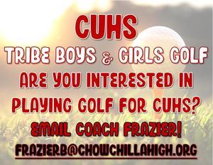 Golf Team Flyer
