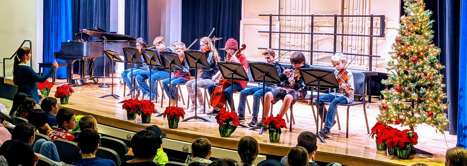 EMS Christmas Concert with Mrs. Pace's Strings students.