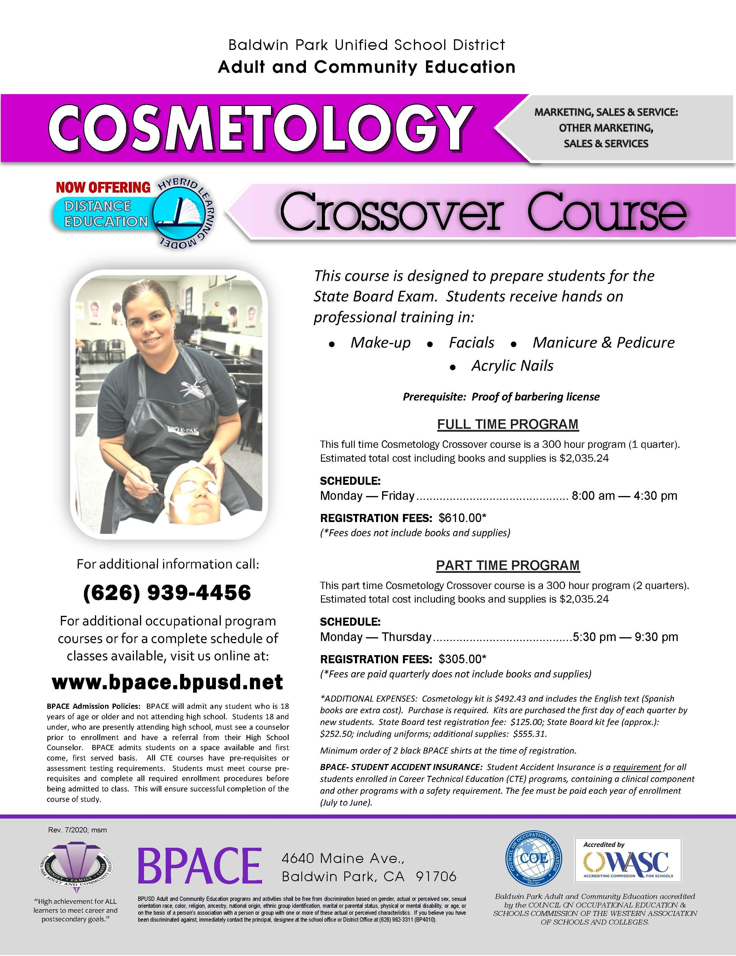 Cosmetology Crossover Flyer