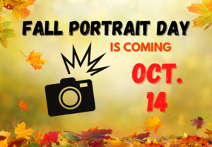 Fall Picture Day is October 14
