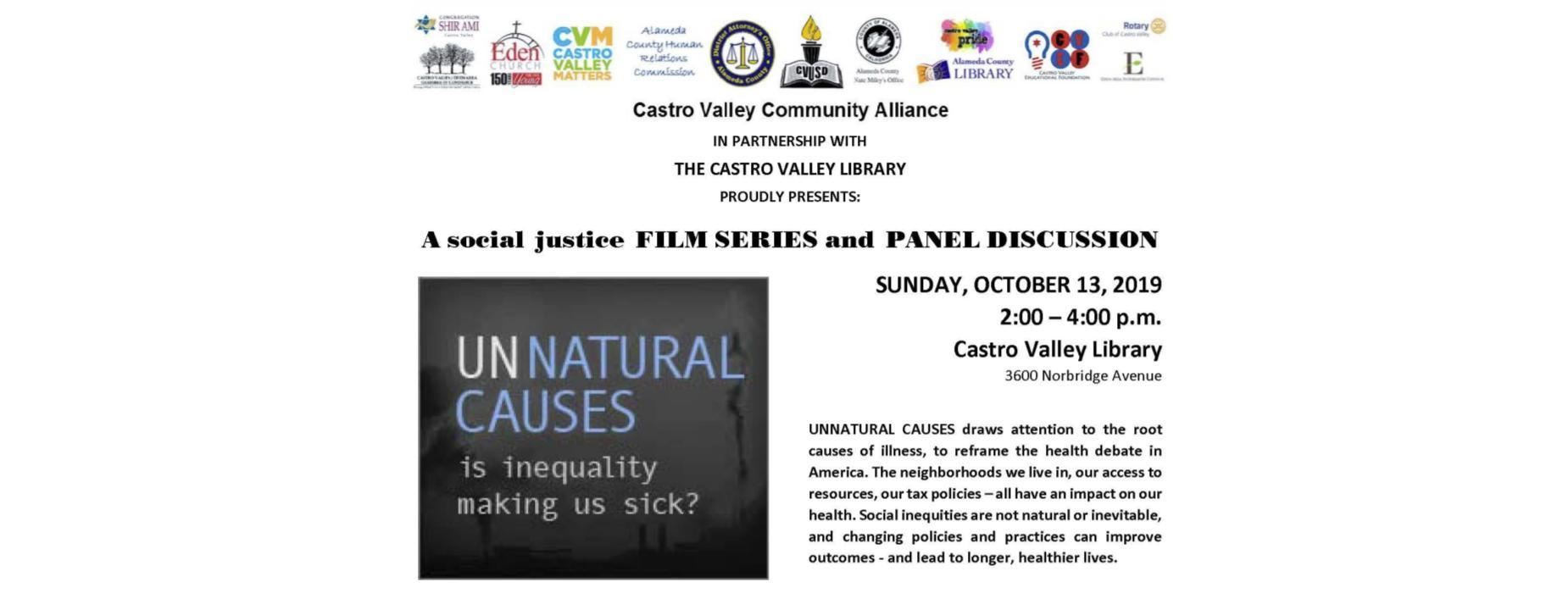 Community Alliance Film Series - October 13th