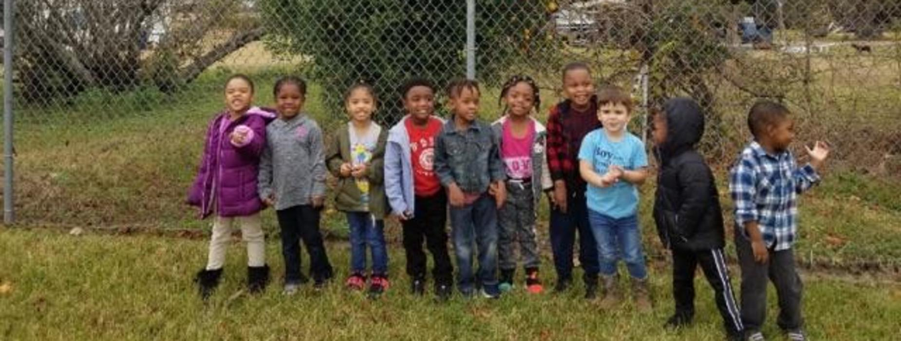 The children in Ms. Martin's class at LeBeau Head Start observed and discussed the characteristics of tree bark and a bird's nest as part of their lesson.