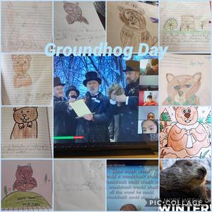 Groundhog day assignment collage
