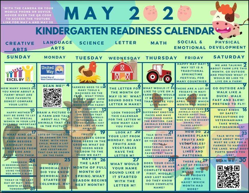 K Readiness calendar