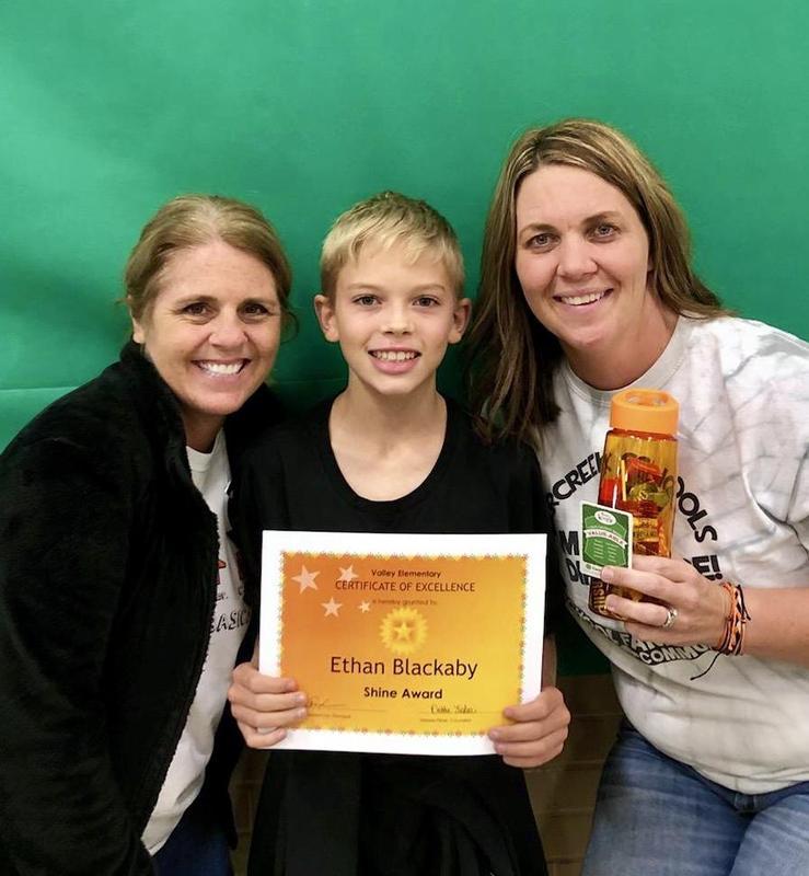 October Shine Award Student