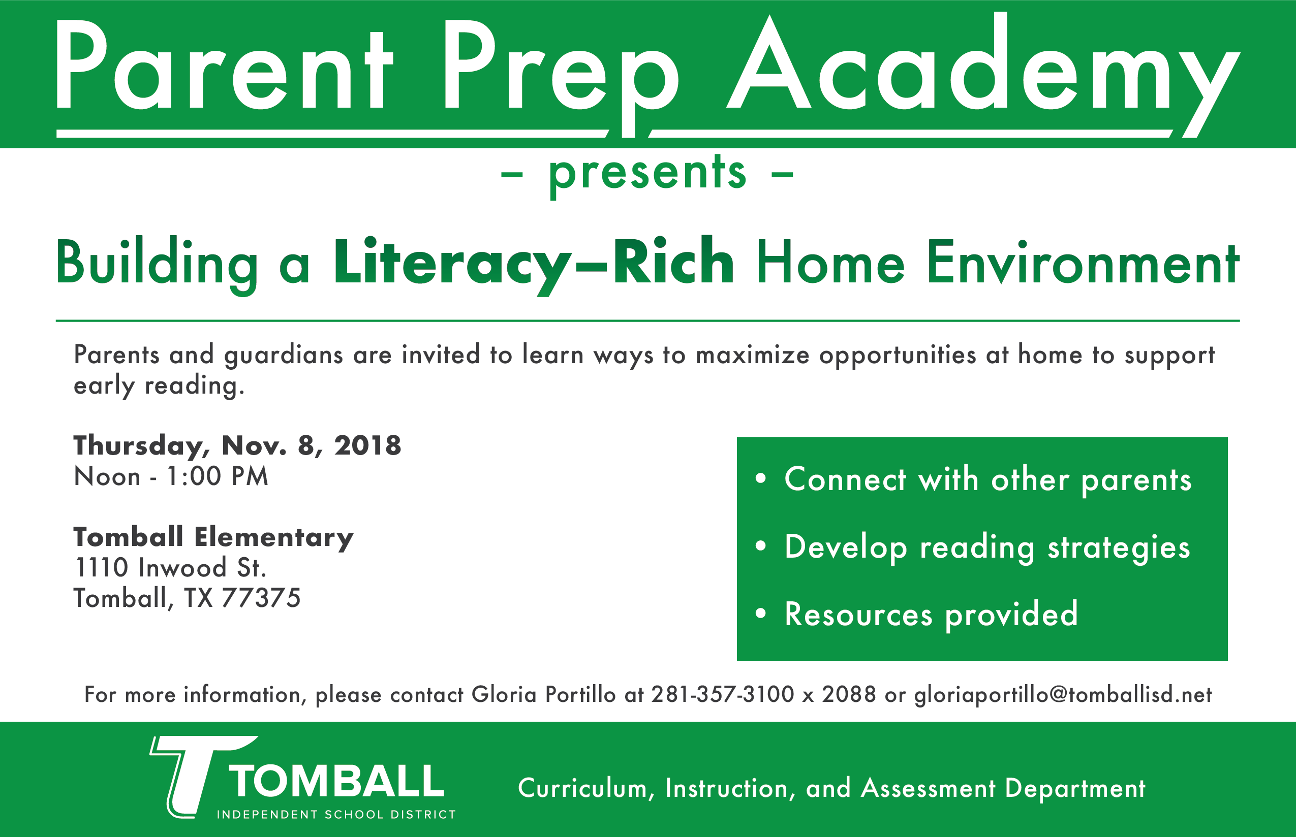 Parent Prep Academy: Literacy-Rich