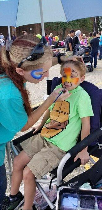 Back to School bash facepainting