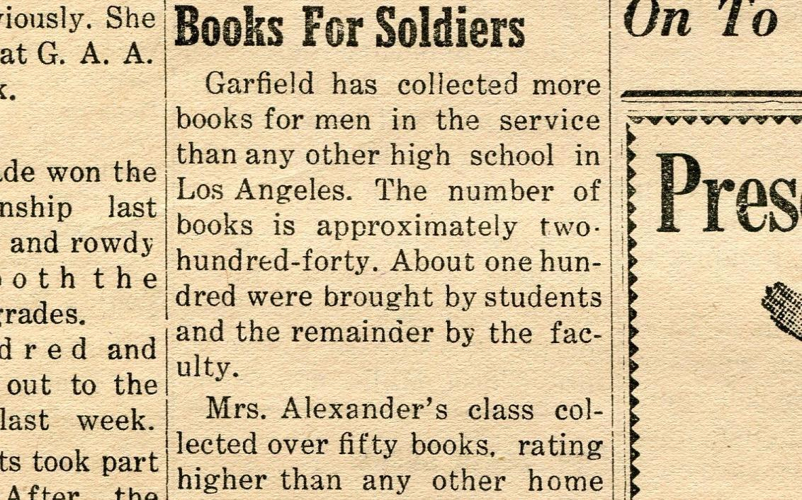 Books for soldiers