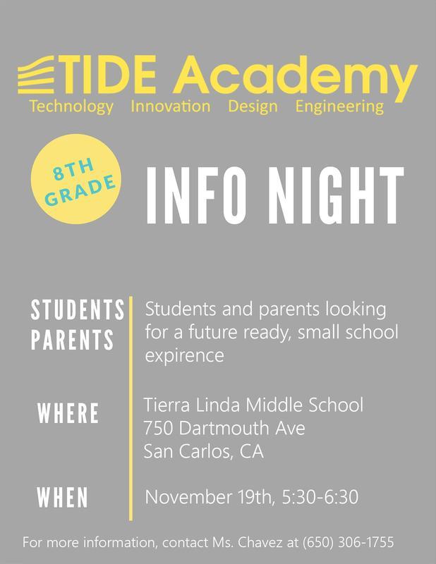 8th Grade TIDE small school info night Featured Photo